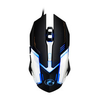 All'ingrosso - Mouse da gioco professionale con cavo USB Mouse ottico 6 pulsanti PC Computer Mouse Gamer Mouse 4800 dpi per Dota 2 LOL Game V6