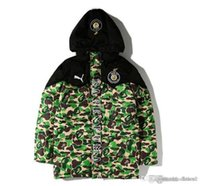 Wholesale Padded Hoodie - New Style Men's Camouflage Warm Hoodies Autumn Winter Thick Cotton-padded Baseball Cothes Men Long Sleeve Warm Cotton-padded Jacket Top