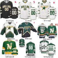 Wholesale ice hockey goalie jersey - Factory Outlet, 1999-pres season Custom any name NO. SIZE Dallas Stars Jersey home road goalie cut jersey mike modano Dino Ciccarelli jersey