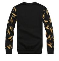 Wholesale London Hoodie - Wholesale-2015 New fashion for women men hoody boy london hippie sweatshirt pullover plus size Eagle hip hop brand sportswear hoodies