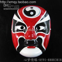 Wholesale Culture Masks - Ethnic Beijing Opera Masks Males Chinese Culture Full Face Paper Pulp Party Mask for Festive Birthday Weddings Decorate 10pcs lot mix color