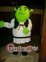 Wholesale Shrek Mascot Costumes - Wholesale-Shrek Mascot Costume For Adult Unisex Cartoon Character Mascot Custom Made Free Shipping D0715