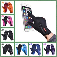 Wholesale Screen Motorcycle - Outdoor Winter Thermal Sports Bike Gloves Windproof Warm Full Finger Cycling,Ski,Motorcycle,Hiking Glove for Phone Touch Screen