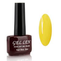 Wholesale Neon Nail Polish Colors - Wholesale-Gel Len Neon colors nail polish Lacquer 8ml 240 Fashion Color for Choose Long-lasting LED Gel Polish Top Fashion Limited Sale