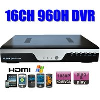 sistema independiente de la cámara de seguridad del dvr al por mayor-16CH H.264 de la red DVR 16channel 960H FULL D1 Home Security autónomo Digital DVR grabador para la cámara 700tvl Cloud cctv sistema