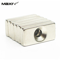 block speakers - Hotsales N35 Strong Block Cuboid Permanent Neodymium Magnets x10x4mm with a Hole Speaker Magnets for DIY Freeshipping order lt no tr