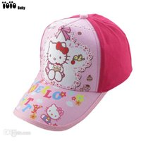 Wholesale Hello Snapbacks - New 2015 Brand Children Baseball Caps Hello Kitty Kids Snapback Lovely Kitty Baseball Caps Snapbacks Hat For Girls-- CP109