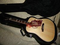 Wholesale Semi Acoustic Electric Guitars - Top Musical instruments Newest Natural Acoustic Electric Guitar Free Shipping
