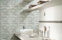 Wholesale Mosaic Decorative Tile - Crystal metal mosaic tiles wall mounted mesh pattern wall texture glass mosaic tiles unique design decorative tiles bathroom tiles