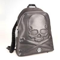 Wholesale Genuine Leather Skull - Top quality genuine leather designer men Backpack AM941528 Luxury High quaity Men's skull sport backpack