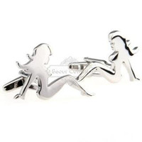 Wholesale Buy Plate Steel - Buying cufflinks custom cufflinks - Silver woman portrait cufflinks AE0359 Metal Craft