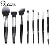 Wholesale Hair Makeup Wholesalers - Ovonni 8Pcs Portable Makeup Brush For Cosmetic Makeup Soft High Quality Hair With PU Box Brand MT023