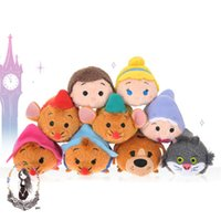 TSUM TSUMS Cenicienta juguete de peluche de Kawaii Dolls animado Screen Cleaner móvil Llavero suspensión del bolso para el teléfono móvil