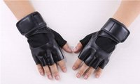 Wholesale Car Mitten - Wholesale-Half Finger Fleece Fitness Car Driving Tactical Sport Gloves Outdoors Motorcycle Cycling Luvas Mittens For Men Free Shipping392e