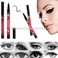 Wholesale Pencil Selling - 2017 hot selling High Quality 36H Pen Liner Waterproof Black Eyeliner Liquid Makeup Beauty Cosmetics Eye Liner Pencil