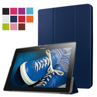 lenovo cubiertas abatibles al por mayor-KST Funda para Lenovo Tab 2 A10-70F / L Soporte de la cubierta del cuero de la tableta del tirón para Lenovo A10-30 X30F Tab3 10 Business 10.1 '' tablet PC + pluma