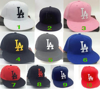 Wholesale Wholesalers Fitted Hats - 10 colors Dodgers Hip Hop MLB Snapback Baseball Caps LA Hats MLB Unisex Sports New York Women casquette Men Casual headware