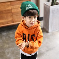 Wholesale boy thickening sweater for sale - Group buy Can Custom Children s clothing plus velvet sweater winter new children s warm hooded thickening Youth Kids Clothes Boy