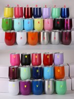 Wholesale Fda Form - 24 Colors 9oz Stemless Stainless Steel Wine Cup Vacuum Insulated Egg Cups with Lid Beer Mug