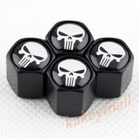 Wholesale Cover Valves - Universal Car Parts Air Dust Wheel Rim Tire Tyre Valve Stem Cap Cover Trim Skull Punisher Badge Decorate