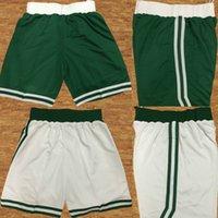 Wholesale Cheap 42 - New Season Men's Basketball Retro White Green Black Jersey Shorts 17 18 Season Cheap Celtic #11 #0 #7 #20 #42 Basketball Jerseys Shorts