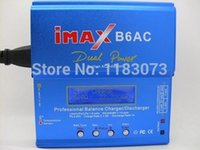 Wholesale 3s Lipo Battery Free Shipping - Powerful 80W 6A iMAX B6-AC B6AC Lipo NiMH 3S RC Battery Balance Charger with color package box 10sets lot Free Shipping