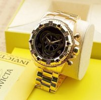 Wholesale Metal Free Watches - Factory Supply Mens Watch Gold Stainless Steel Luxury Watch for Mens Reserve Venom Metal Quartz Watches Free Shipping