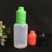 Wholesale E Vapor Plastic Tips - 2016 30ml e cig vapor juice bottle with tamper proof cap High quality 30ml plastic dropper bottle empty childprooftamper long thin tip