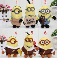 Wholesale Minions Stuff For Kids - 2015 Despicable Me 3 Minions Bob Soft Stuffed Plush Small pendant Doll For Kid Toy Gift 1206#06