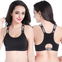 Rosa Yoga BHs Quick Dry Sport Laufen Womens Crop Tops Fitness Yoga Sport BH Gym Kleidung Free Drop Shipping