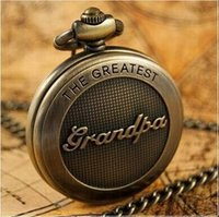 Wholesale Best Grandpa - free shipping High Quality Grandpa Dad Father Day Gift quartz pocket Watch Necklace chain best gift