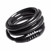 Wholesale combination chain lock resale online - 60PCS High quality Bicycle Lock Bike Cable With Chain Combination Digit Combination Password Bike Bicycle Cable Chain Lock AAAAQF