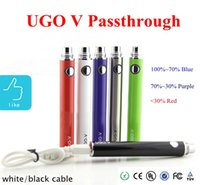 Wholesale E Cigarette Vv Pass Through - Quality promised UGO V battery with Cable Evod pass through vaporizer UGO-V 650-900 mah Evod-vv battery e cigarette for mini protank 3