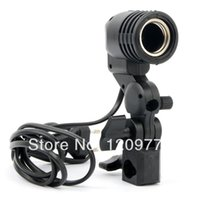 Wholesale Photography Photo Light Lamp Bulb Holder E27 Socket Flash Bracket Studio EU Plug J0206 W0