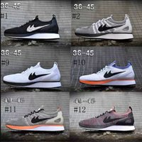 Wholesale Fly Leather - Newest Air Zoom Mariah Fly Racer 2 Women Mens Athletic Shoes Black White Red AIR Zoom Racers Sneaker Trainers Size 36-45