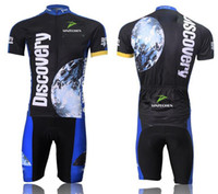 Wholesale Discovery Cycling Jersey Bib Shorts - 2015 New discovery Short Sleeve Cycling jersey bicycle bike wear shirt and bibs shorts or shorts Size :S ~5XL