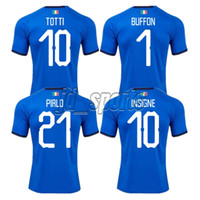 jersey italia al por mayor-Copa Mundial de Italia 2018 Inicio Adultos Fútbol Camisa Totti Pirlo Insigne Del Piero Camisetas de fútbol Camiseta de fútbol de Italia Kit Maillot