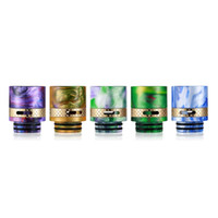 Wholesale Air Bears - 810 Epoxy Resin + Brass Drip Tips Wide Bore Drip Tip Air Control Mouthpieces with dual O-Ring For rda TFV8 TFV12 TFV8 Big Baby