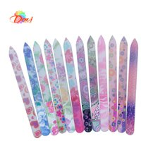 Wholesale Flower File - 10Pcs lot Durable Crystal new flower pattern Glass Nail File nail Art care Files Tool FREE SHIPPING GNF-1012