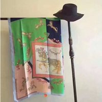 Wholesale Gloves Drawing - Fashion scarf A designer's brand horse-drawn carriage shaw Long style suntan towel summer beach towel