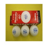 Wholesale Pong Stars - Free shipping Nittaku Table Tennis Ball 3 Star Ball Premium 40mm 6 Pcs   1lot Ping Pong Balls Color