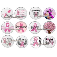 Ruban Bracelet Pas Cher-Livraison gratuite Pink Ribbon Breast Cancer Awareness Buttons Noosa Chunky 18mm DIY Snap bouton interchangeable pour Snap Bracelet Rings Jewelry