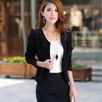 2016 Fashion Women Floral Blazer Slim White Short Blaser Женский плюс размер XXL Топы с длинным рукавом Feminino Work Wear Suit