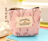 Wholesale Cute Mini Wallets Keys - Creative coin purse key bag cute coin bag girls simple mini canvas