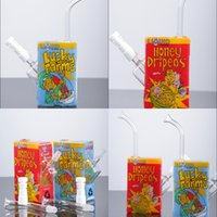 Wholesale Glass Oil Dome For Sale - Liquid Glass Bong Real Picture Types Brand Liquid Sci Ce Juice Box With Ceramic Vapor Dome 14.5mm Oil Dab Rig For Sale