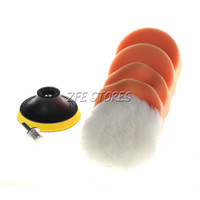 Wholesale 6Pcs mm quot Polishing Buffing Pad Kit for Car Polishing Buffer quot Thread
