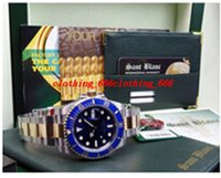 Men's blue box files - Factory Supplier Top quality Luxury Sapphire mm Blue Index Dial Automatic Sport Mens Watch Men s Wrist Watches Original Box File