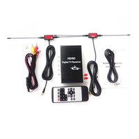 Wholesale Isdb Car Tv - 4 video ouputs dual tuner Car ISDB-T Digital TV box Receiver for Brazil and South America Market