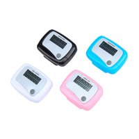 Wholesale mini portable counter online - Calorie Counter Outdoor Fun Sports Tools Portable Mini Pedometer Multi Function Digital Passometer High Quality ld C R