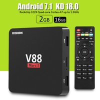 Wholesale Kd Ii - V88 Mars II Android 7.1 TV Box 2GB 16GB RK3229 Quad Core KD 18.0 Full Loaded Smart Media Box